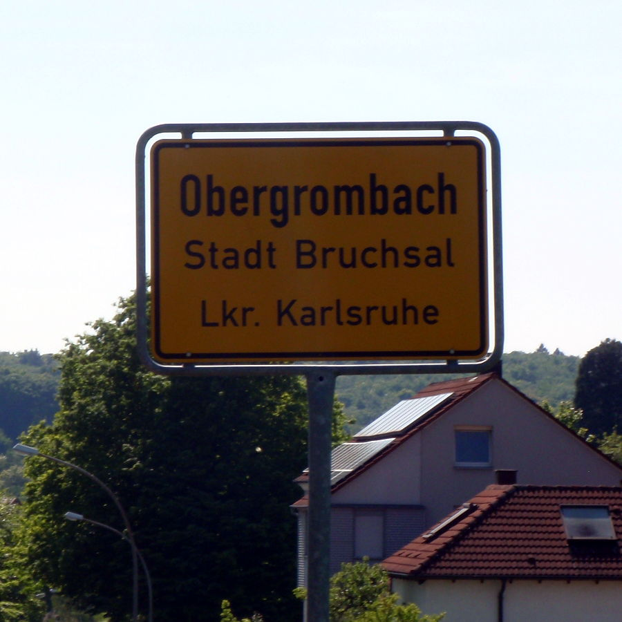 Obergrombach Ortsschild